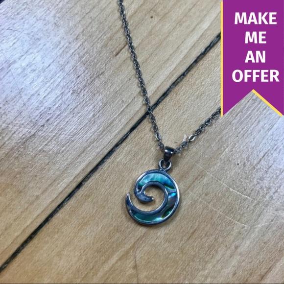 33d38977e Jewelry | Silver New Zealand Kuro Paua Shell Necklace | Poshmark